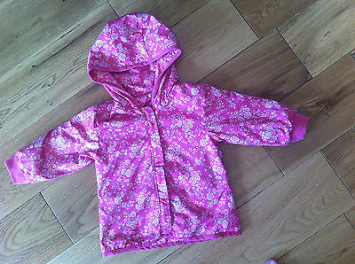 Baby Gap Pink Floral Lighweight Quilted Effect Hooded Jacket 18-24 Months