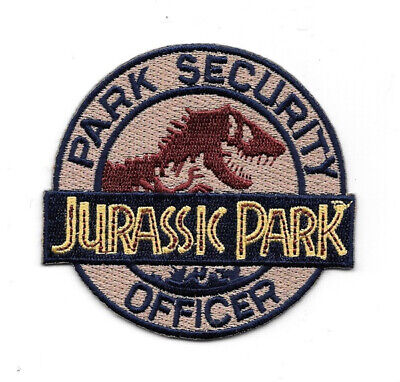 Jurassic Park Movie Park Security Officer Logo Embroidered Patch, NEW UNUSED