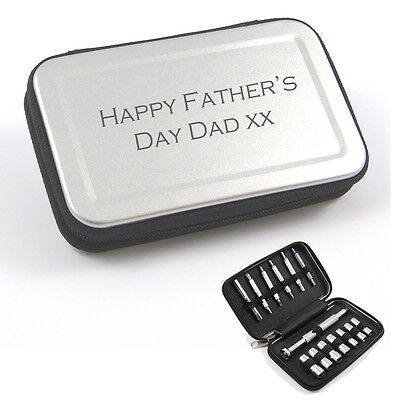 Personalised Engraved Portable Screwdriver Set - Dad's, Mens's Gift