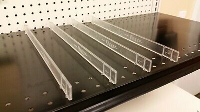"Gondola EZ Shelf Divider System Fits Any Gondola Shelf Up to 16"" D - 50 PCS"