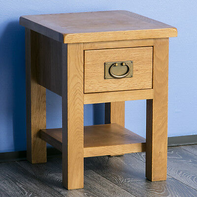 Surrey Oak Side Table / Solid Wood Lamp Table / Brand New / Small Coffee Table