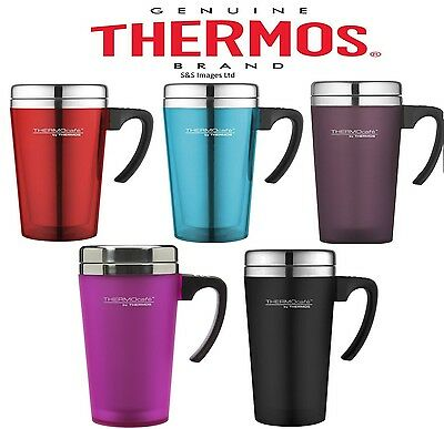 Thermos Thermocafe 420Ml Soft Touch Camping Travel Hot Cold Tea Coffee Mug New