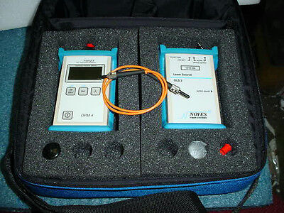 AFL Noyes OPM-4 Fiber Optical Power Meter & OLS-2 Light Source Cased+ User Guide