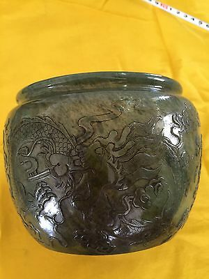 Qinghai jade pot Qianlong year Chinese Antique