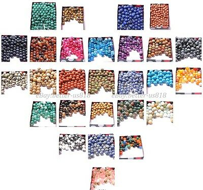 Wholesale 100Pcs Natural Gemstone Round Spacer Loose Beads 4MM 6MM 8MM 10MM Pick