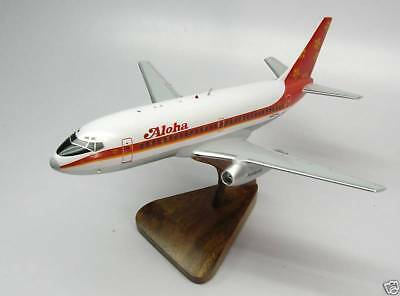 B-737 Aloha Boeing B737 Airplane Replica Wood Model Big New