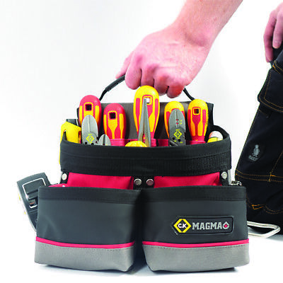 CK Magma MA2717A Electricians Tool Pouch Work/Tool Belt For Screwdrivers, Pliers