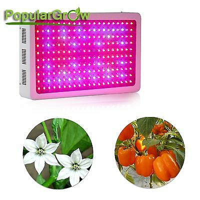 Populargrow 3w led 9 Bands 600w led grow light for Indoor Plant Growing CA Stock
