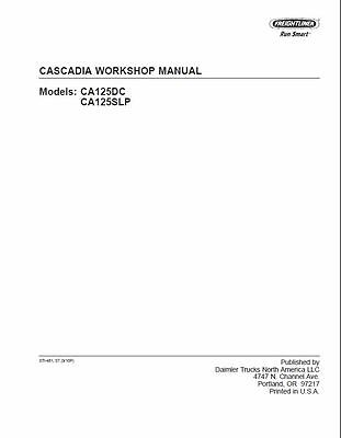 Freightliner Cascadia Truck Factory Service Workshop Repair Shop Manual CD