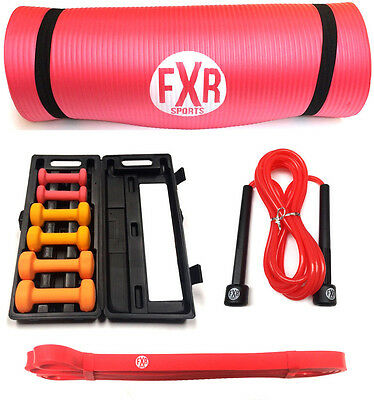 Ladies Womens Fitness Starter Pack Yoga Gym Skipping Ropes Exercise - Worth £36