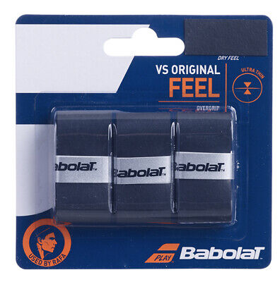 Babolat VS Grip Original Black Overgrip Tennis grips - Pack of 3 - Free UK P&P
