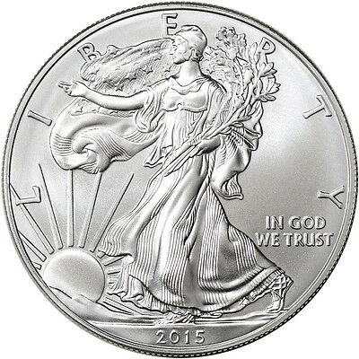 2015 American Silver Eagle ASE .999 1 OZ. Bullion BU Brilliant Uncirculated