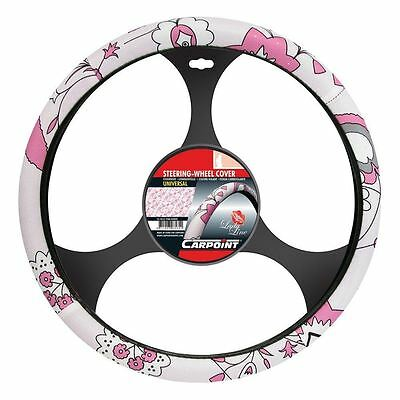 Carpoint CPT2510021 LADYLINE Steering wheel Cover pink flower 37 -39cm
