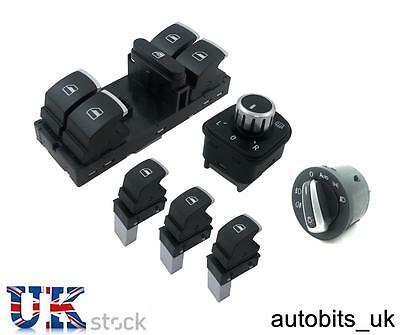Et Of Chrome Window Mirror Headlight Switch Control Vw Passat Golf Jetta W Auto