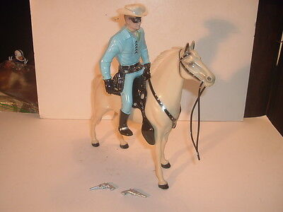 1960's Lone Ranger Hartland Statue & Horse Standing Version Complete 800 Series