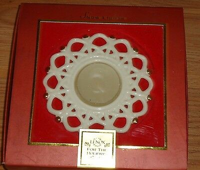 Lenox SNOW LIGHTS Shimmer Votive candle holder w/Box