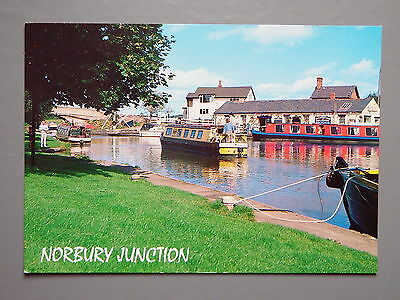 R&L Postcard: Norbory Junction, Canal Barges Boats, J Salmon