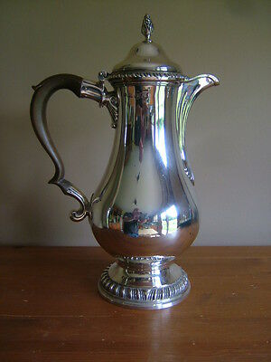 QUALITY, ANTIQUE, GEORGE III, ENGLISH SILVER COFFEE/HOT WATER POT, LONDON c1774