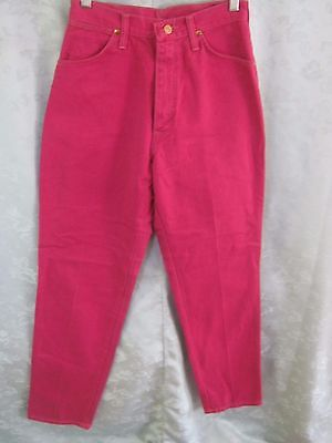 Vintage Wrangler High Waist Western Jeans Size 10 Dark Pink Made in  USA