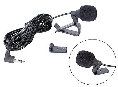External Microphone Mic 3.5mm For Car vehicle Head Unit Radio Stereo Bluetooth