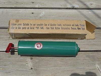Air Pump Airubber New York Rubber Corporation Mattress Boat Bed NY-546 Vintage