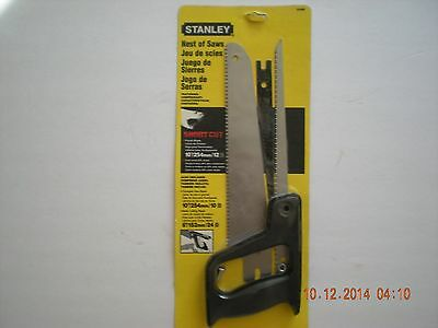 NEW STANLEY NEST OF 3 SAWS MADE IN THE U.S.A.