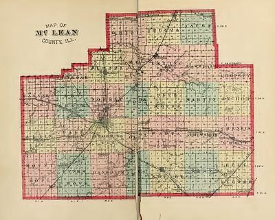 1879 McLEAN County Illinois IL, History & Genealogy, Ancestry Family DVD CD B33