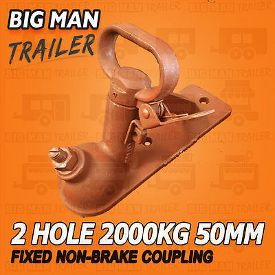 Quick Release Coupling 2 Hole RED 50mm 2000kg Rated Trailer Part Fixed 1201111
