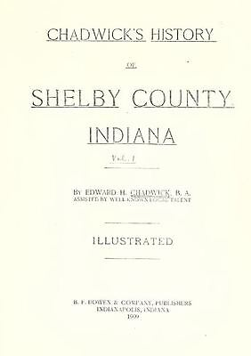 1909 SHELBY County Indiana IN, History and Genealogy Ancestry Family DVD B36