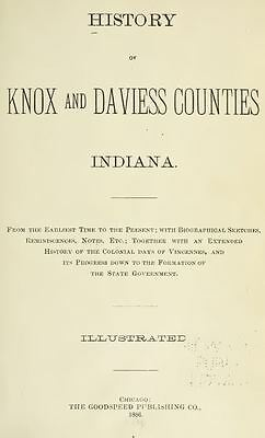 1886 KNOX & DAVIESS County Indiana IN, History and Genealogy Ancestry DVD B36
