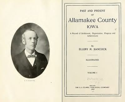 1912 ALLAMAKEE County Iowa IA, History and Genealogy Ancestry Family DVD B38