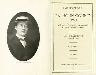 1915 CALHOUN County Iowa IA, History and Genealogy Ancestry Family Tree DVD B38