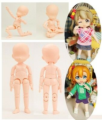 Obitsu 11cm Body Dollfie Baby Doll with Magnet White Skin Color Magnetic Foot