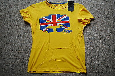 Joystick Junkies England Invader Yellow T Shirt Bnwt Official Union Jack Game