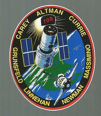 """Nasa Shuttle Columbia Sts-109  Crew Patch Space  Decal Sticker 4 1/2"""""""
