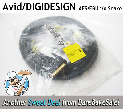 Avid Digidesign AES/EBU i/o 12 FT Audio Snake with Avid Part# 7070-03150-01A