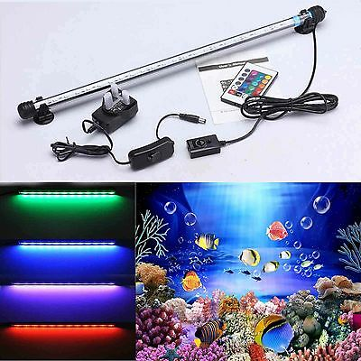 TingKam aquarium fish tank 5050SMD RGB white blue LED light bar lamp submersible