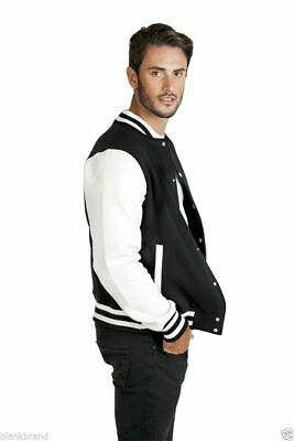 Mens Plain Varsity Jacket | College Baseball Letterman Basketball | XS - 5XL