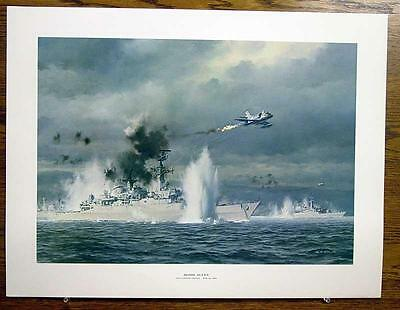 Bomb Alley San Carlos Strait May 21, 1982 R G Smith 19 x 25 Color Print