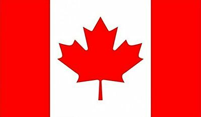 """18"""" x 12"""" (45 x 30 cm) Canada Canadian Sleeved Boat Hand Waving Polyester Flag"""