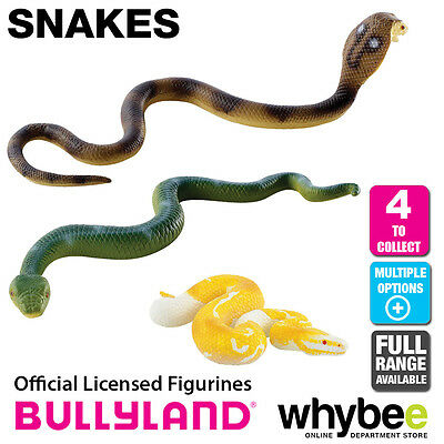 Genuine Bullyland Snakes Collection Plastic Figurines Figures Full Range!