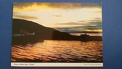 Ireland postcard: Galway Bay sunset by John Hinde, posted with stamp.