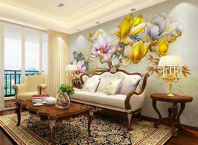 3D Chinese Style Flowers Paper Wall Print Decal Wall Deco Indoor wall Murals