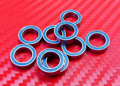 10pc MR148-2RS (8x14x4mm) Metric Blue Rubber Sealed Ball Bearing 8*14*4 MR148RS