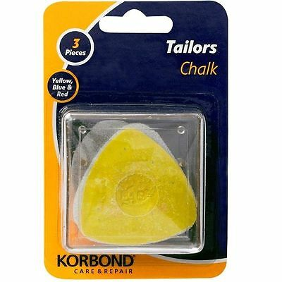 Korbond Tailors Chalk 3Pcs Blue Yellow And Red Cloth Marker Accessories Tool New