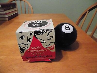 Magic 8 Ball Fortune Teller Paperweight Toy Vintage Alabe Crafts