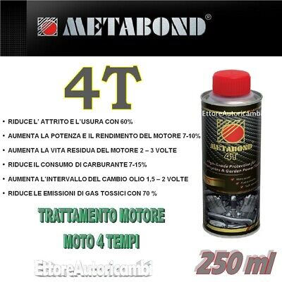 Metabond 4T - Additivo/Trattamento Motore Scooter E Moto 4 Tempi - 250Ml