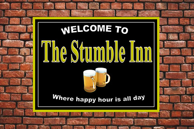 Personalised Pub sign, Home Bar, homebrew, Funny mancave sign Free Postage