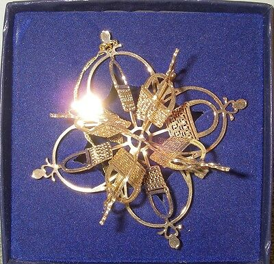 Longaberger Christmas 3D 24K snowflake star type basket ornament