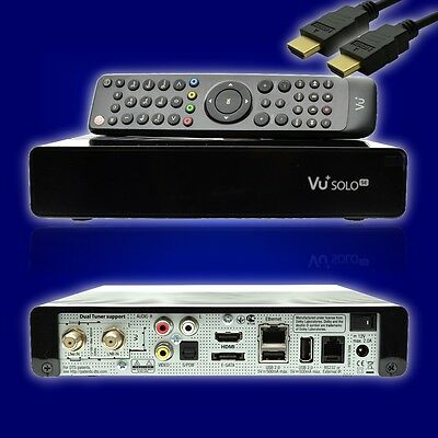 VU+ Plus Solo SE V2 Full HD Linux E2 Enigma TWIN Kabel 2x DVB-C/T2+ HDMI